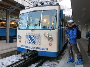 Bayerische Zugspitzbahn and my lovely girl-friend Petra from Austria